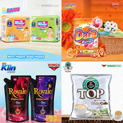 Top Kopi, Baby Happy Pants, So Klin, Daia